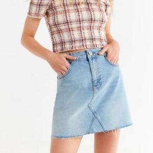 NWOT BDG Re-Made Denim Mini Skirt